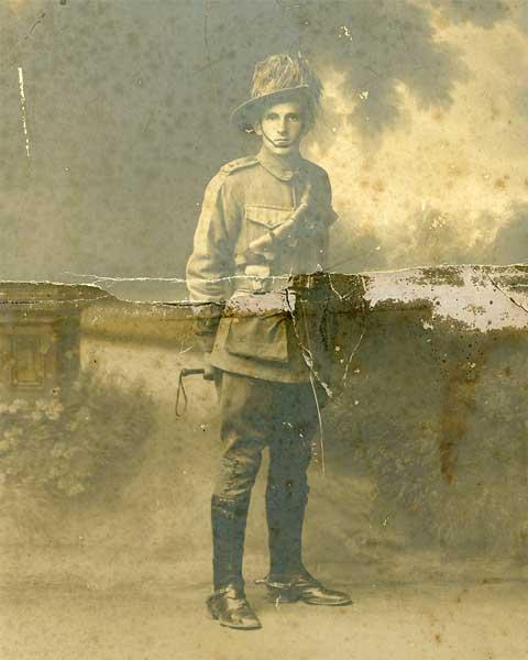 old damaged photo