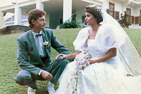 Colour corrected wedding photo